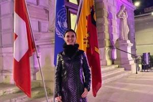 Оксана Линів стала першою жінкою, яка диригувала концертом до річниці ООН