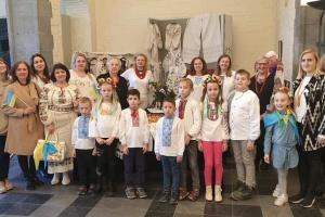 У Бельгії діти української школи відвідали виставку «Тиждень українського мистецтва»