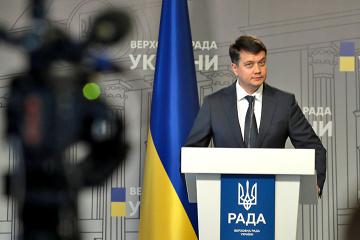 Rasumkow kündigt Einleitung des Verfahrens zu seiner Abberufung vom Amt des Rada-Chefs an