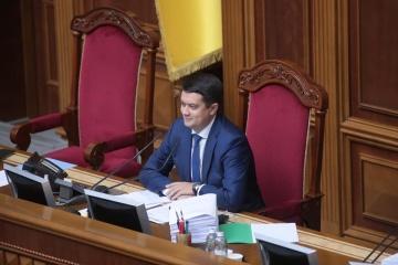 Razumkov suspendido en sus funciones de jefe de la Rada