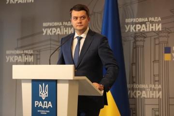 Werchowna Rada stimmt über Abberufung von Parlamentschef Rasumkow am 7. Oktober ab