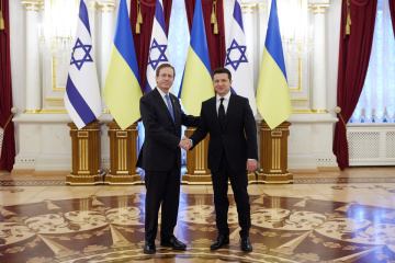 Zelensky se reúne con el presidente de Israel