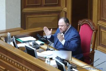 Rouslan Stefantchouk est élu président du Parlement ukrainien