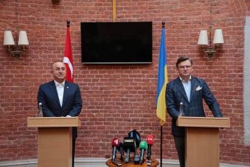 Kuleba trata con Çavuşoğlu la seguridad en el mar Negro