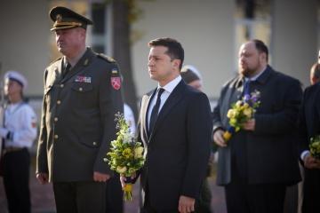 Präsident würdigt Gefallene für die Ukraine