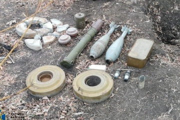 SBU discovers ammo caches set up by enemy saboteurs in east, south of Ukraine
