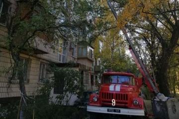У Києві горіла квартира на восьмому поверсі, двоє загиблих