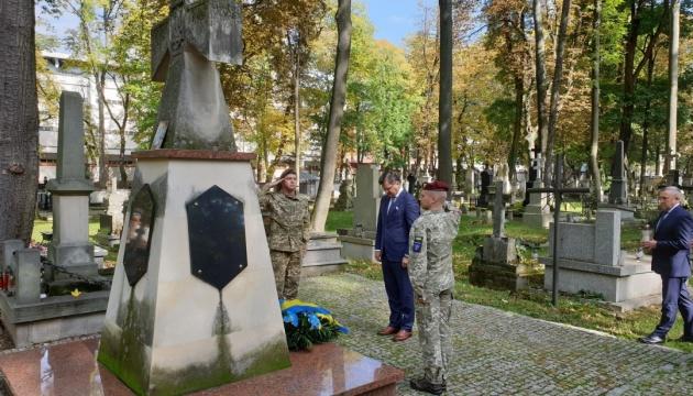 Kuleba uczcił pamięć żołnierzy armii Ukraińskiej Republiki Ludowej w Lublinie