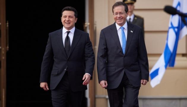 Zelensky meets with Israeli president