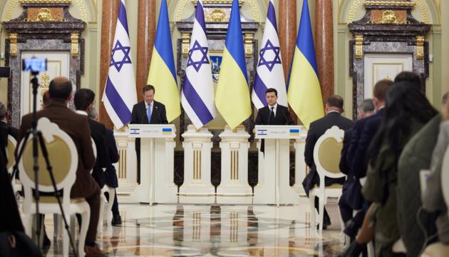 Les présidents Zelensky et Herzog font une déclaration commune