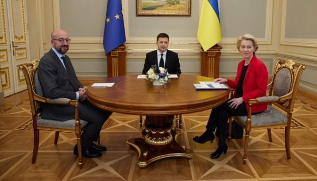 キーウでウクライナEU首脳会談開始