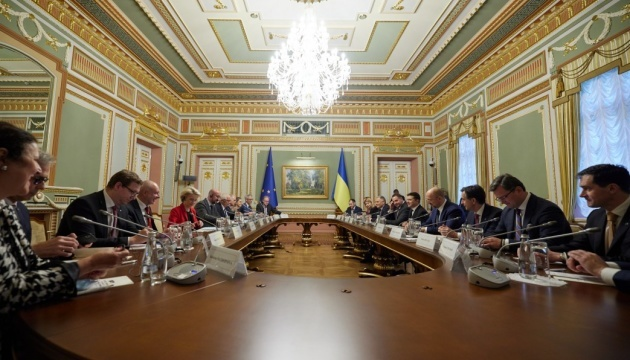 Ukraine, EU sign two more agreements at summit in Kyiv
