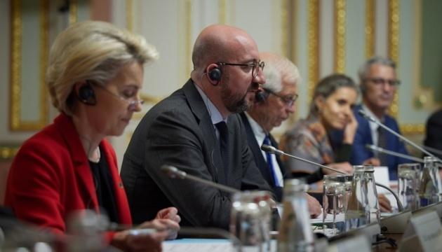 Die Ukraine kann im Sicherheitsbereich auf stabile Unterstützung der EU zählen – Charles Michel