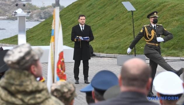 Зеленський на Хортиці прийняв присягу у військових ліцеїстів